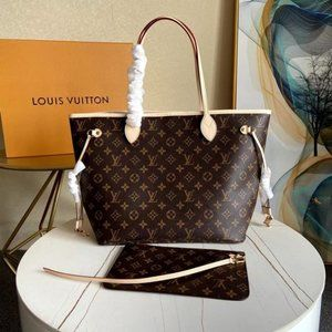Louis Vuitton Neverfull MM Brown Red